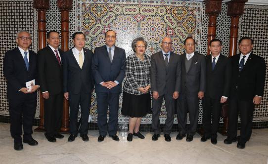 رئيس مجلس النواب يستقبل رئيسة لجنة الخارجية بالجمعية الوطنية التايلاندية.