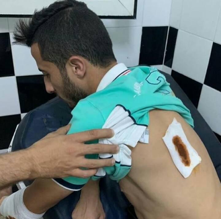 اصابة الحسوني لاعب الفريق الاحمر البيضاوي بطعنة بالسلاح الابيض