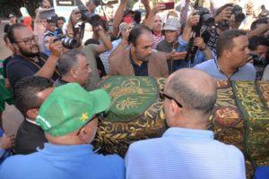 تشييع جثمان الممثلة أمينة رشيد بالدارالبيضاء (صور)